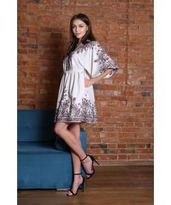 Elegancka sukienka w stylu boho Ester beż