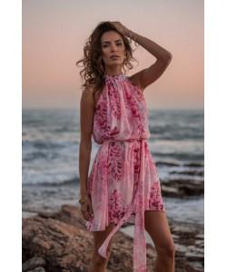 Kobieca sukienka w stylu boho Liv różowa