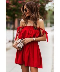 Uniwersalna sukienka damska Andi czerwona