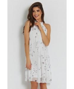 Letnia zwiewna sukienka na wesele LIV biel