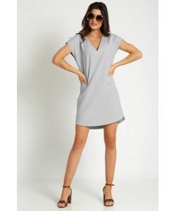 Luźna sukienka na lato Kara szara