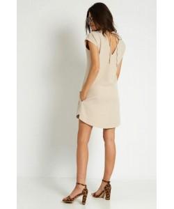 Luźna sukienka na lato Kara beżowa
