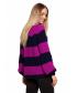 Luźny sweter w pasy- fioletowy 2