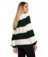 Luźny sweter w pasy-zielony3