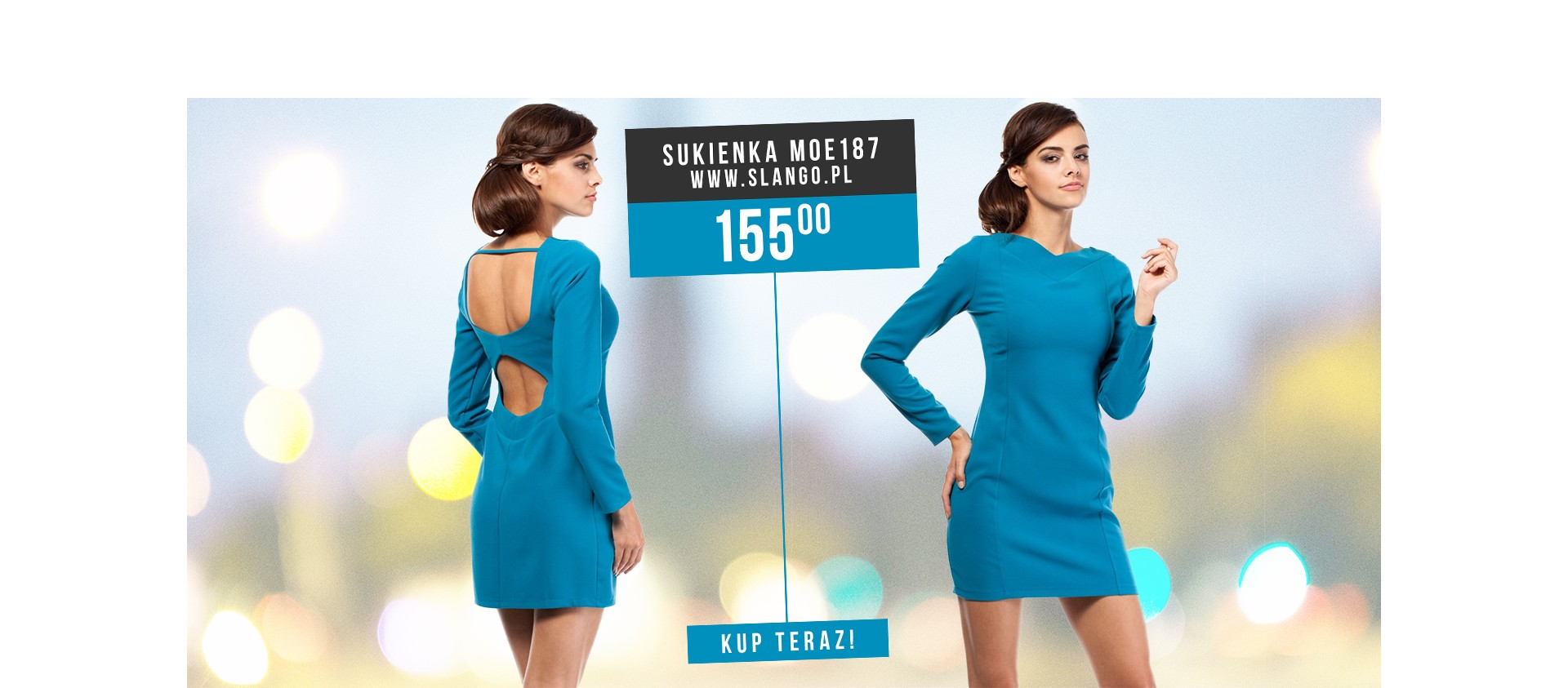 Efektowna sukienka MOE187 Cztery kolory