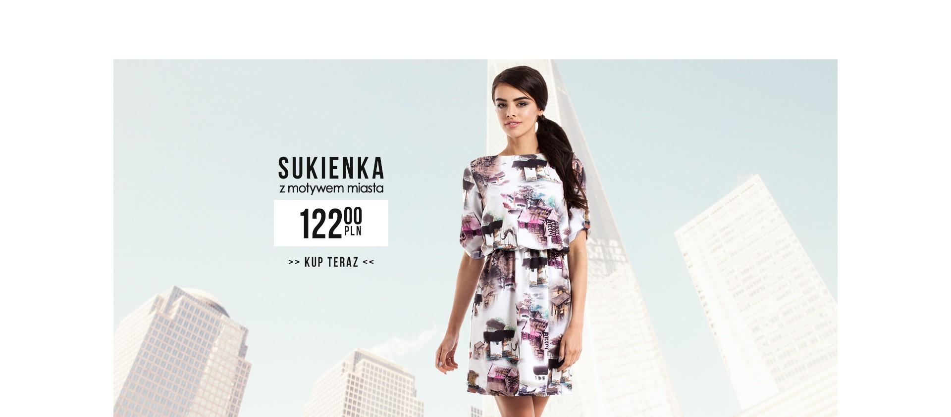 Sukienka z nietypowym motywem MOE226