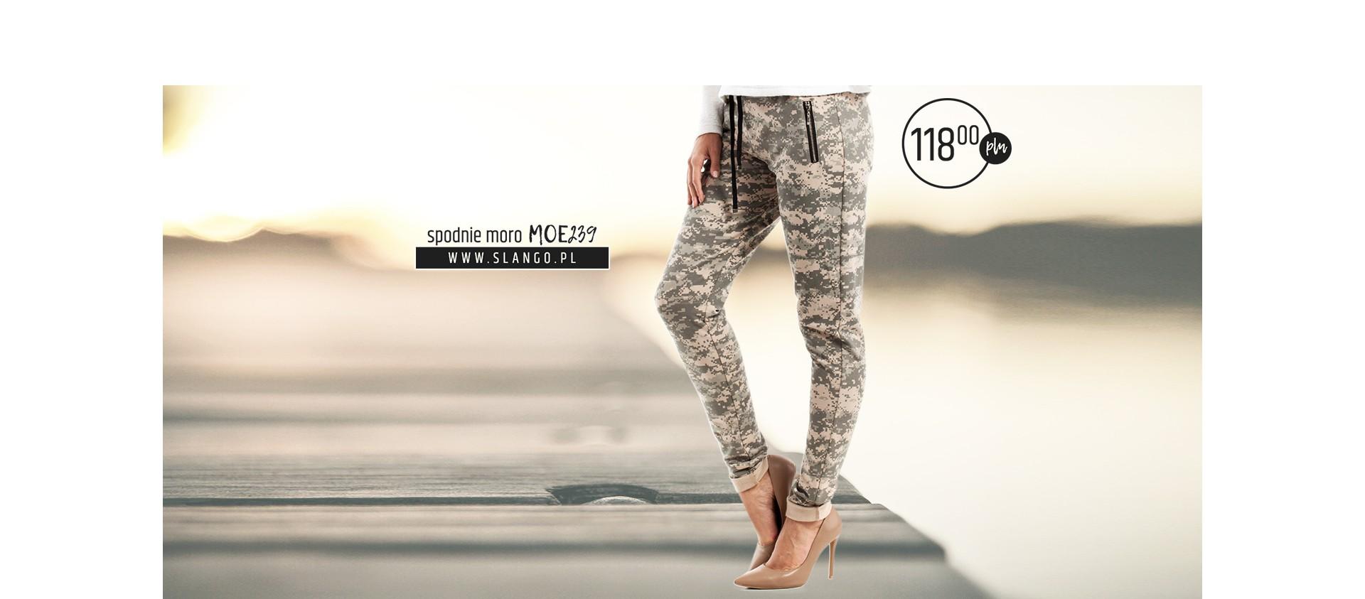 Najmodniejsze spodnie moro MOE239 mix