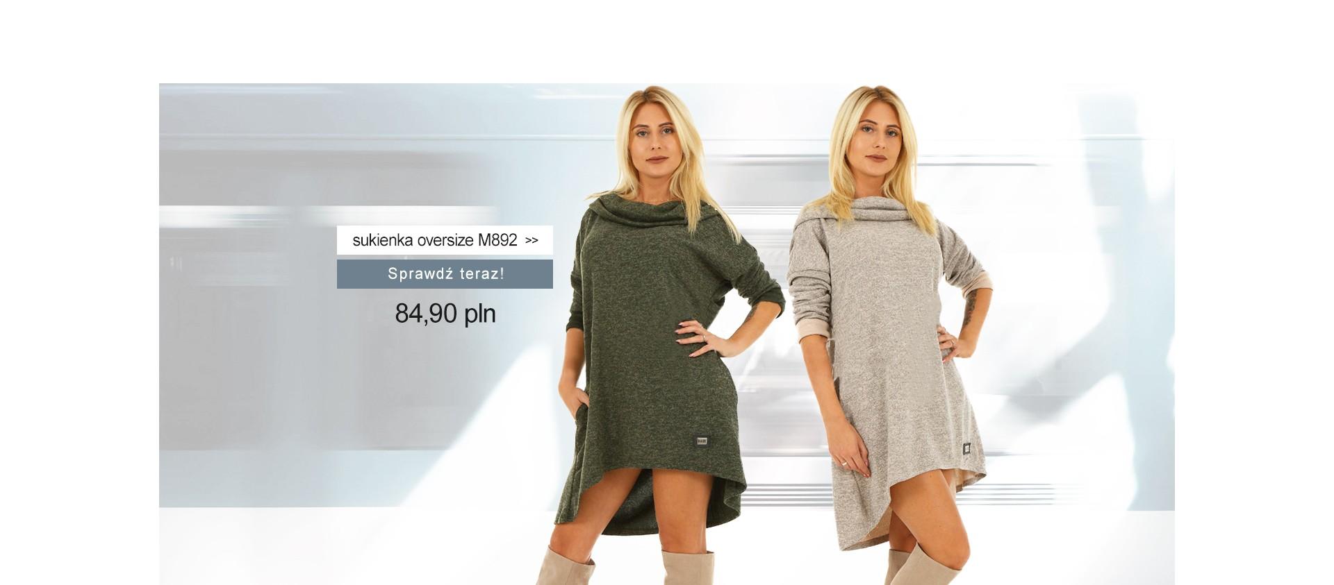 Sukienka oversize M892 Dwa kolory